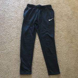 Nike Dri-Fit Black Joggers Sweats Size Large